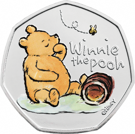2020 Coloured Brilliant Uncirculated Winnie the Pooh By The Royal Mint
